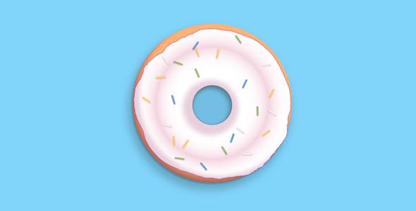 svg+css甜甜圈代码源码下载