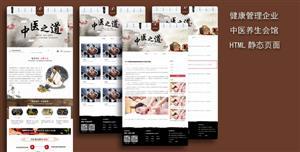 中医养生健康管理企业网站模板