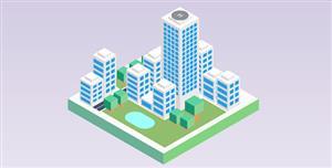 纯css绘制的3d城市建模