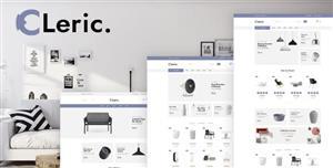 扁平化设计家具电商网站模板自适用