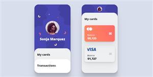 reactjs层叠样式个人卡片特效