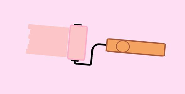 js+css3油漆滚刷动画特效源码下载