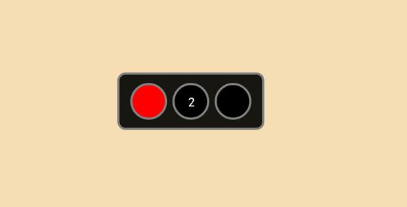 js红绿灯变化网页动效