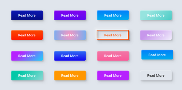 彩色的按钮样式css3动画特效