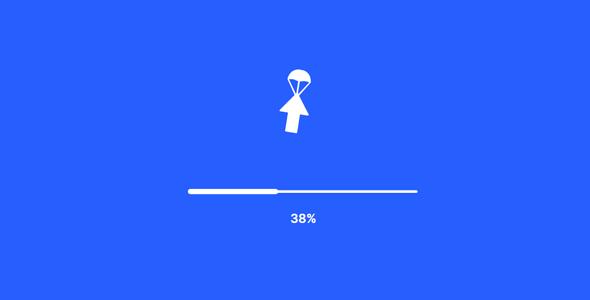 创意下载按钮svg动画特效