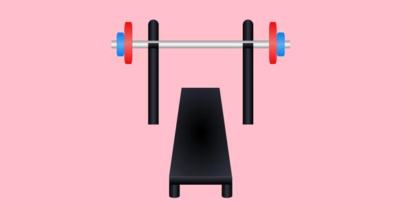 css3代码绘制台式举重器代码