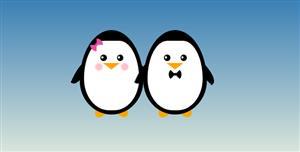 css代码画的企鹅夫妇