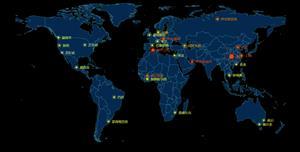 echarts世界地图闪烁点