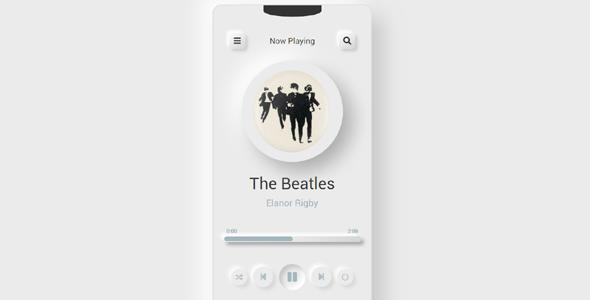 漂亮的小型音乐播放器代码源码下载