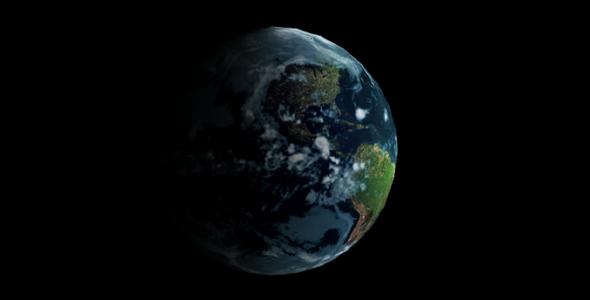 html5 3D地球转动动画特效源码下载