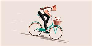 css3骑自行车动画特效