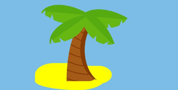 纯css椰子树代码