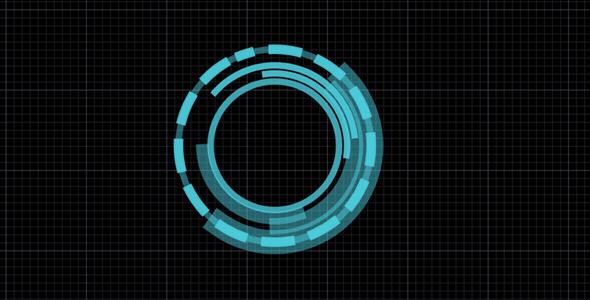 svg科技感圆圈旋转特效