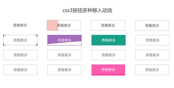 css3按钮鼠标悬停动态效果源码下载