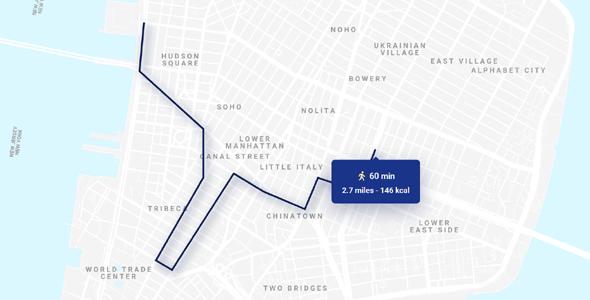 SVG地图路线轨迹CSS3动画特效
