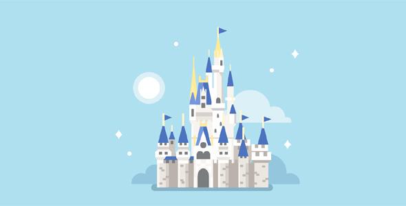 纯css代码绘制的魔法城堡