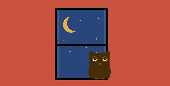 纯css窗户边的猫头鹰源码下载