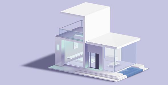 纯CSS房子3D建模网页特效源码下载