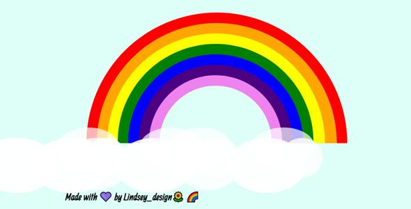 css绘制的彩虹网页样式源码下载