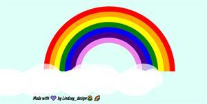 css绘制的彩虹网页样式