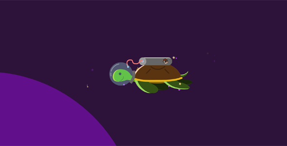svg网页动画猫和海龟源码下载