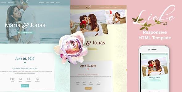 婚礼网页爱情表白HTML模板
