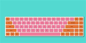 JS彩色虚拟键盘代码