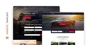 汽车租赁平台或者公司网站模板