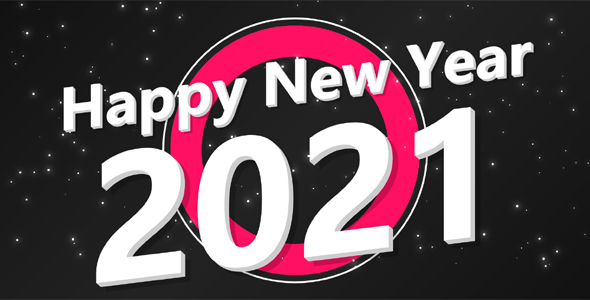 2021新年快乐文本特效动画代码源码下载