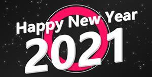 2021新年快乐文本特效动画代码