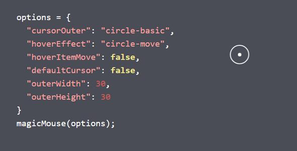 鼠标箭头光标样式插件MagicMouse.js源码下载