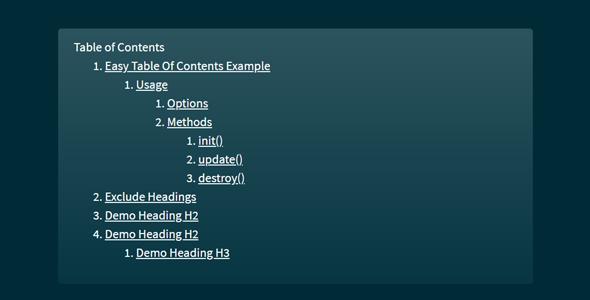 网页上目录并跳转插件easy-toc.js源码下载