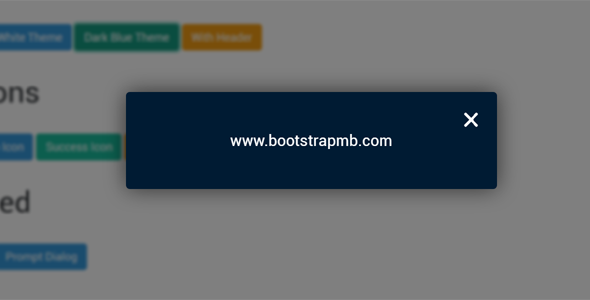js网页弹出框插件Alert, Confirm, Prompt