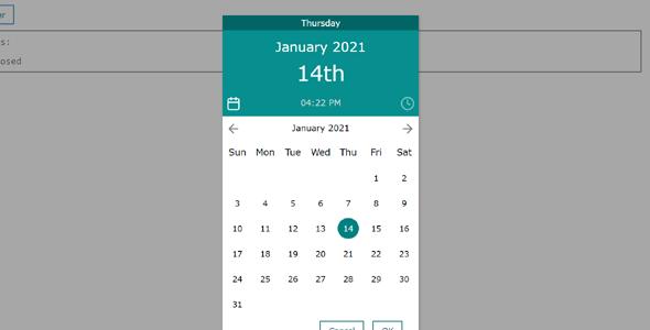 弹出式日期选择插件simplepicker.js