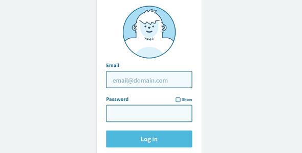 TweenMax小白熊登录页面动画效果