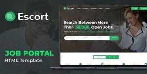 绿色招聘工作门户网站HTML模板