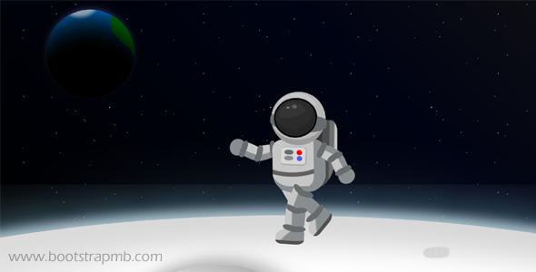 宇航员月球漫步CSS3动画