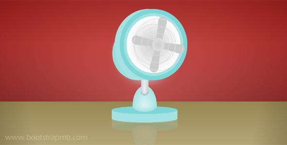 纯CSS3电风扇动画网页代码源码下载