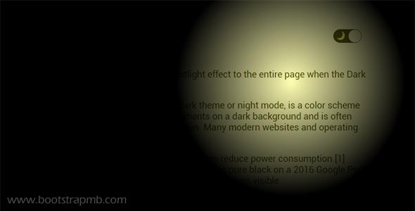 网页亮色和暗色切换Js插件