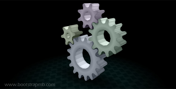 DIV+CSS立体感齿轮网页特效