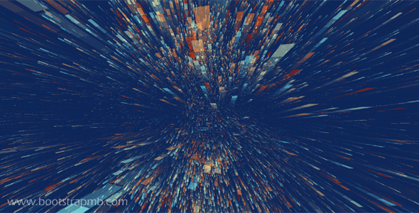 炫酷粒子飞梭变形动画特效