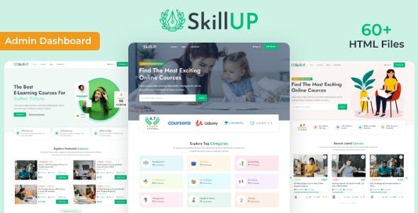 在线学习平台付费课程HTML5模板