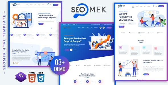 创意精美SEO&营销业务HTML5模板