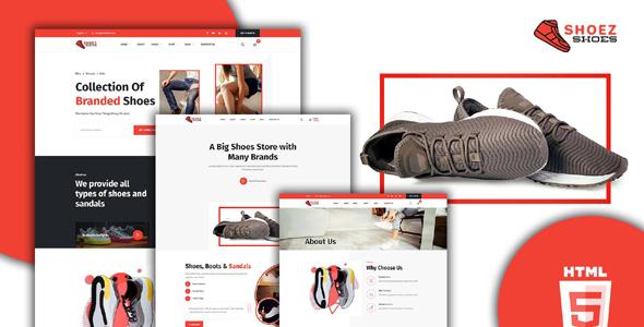 鞋子品牌商店网站HTML5模板