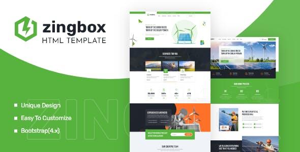 绿色环保清洁能源企业网站bootstrap模板