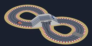svg賽車和跑道網頁動畫特效