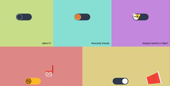 创意动画开关按钮Toggles特效源码下载