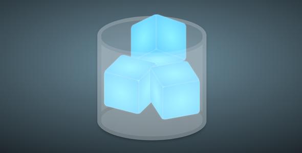 纯css代码玻璃杯中的冰块源码下载