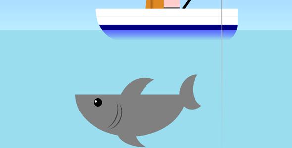 纯CSS3鲨鱼动画特效代码源码下载