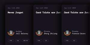 CSS卡片樣式折疊布局